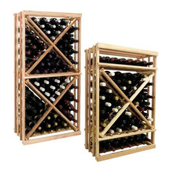 Wine Cellar Innovations - Vintner Series - 1 Column Open Diamond Cube Wine Racks - The Vintner Series 1 Column Open Diamond Cube Wine Rack has open sides and cross intersection inserts that allow for this wine rack kit to be a more affordable bin wine storage option than the Solid Diamond Cube or Solid Diamond Bin, but achieving the same wine storage look. Purchase two to stack on top of each other to maximize the height of your wine storage. Moldings and platforms sold separately. Assembly required.