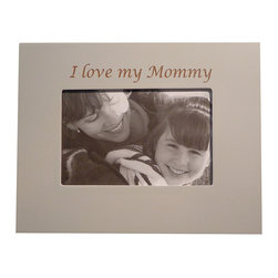 Havoc Gifts - Oyster 'I Love My Mommy' Picture Frame - Engraved lettering gives this timeless frame an understated sophistication that's sure to make precious moments and professionally shot photos shine. It comes ready to display with an easel back and sawtooth hanger.   9'' W x 7'' H x 0.5'' D Holds one 4'' x 6'' photo Wood / glass / paper Easel back and sawtooth hanger Imported