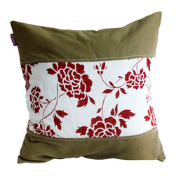Blancho Bedding - [Floarl Dream] Linen Stylish Patch Work Pillow Floor Cushion 19.7 by 19.7 inches - Aesthetics and Functionality Combined. Hug and wrap your arms around this stylish decorative pillow measuring 19.7 by 19.7 inches, offering a sense of warmth and comfort to home buddies and outdoors people alike. Find a friend in its team of skilled and creative designers as they seek to use materials only of the highest quality. This art pillow by Onitiva features contemporary design, modern elegance and fine construction. The pillow is made to have invisible zippers, linen shells and fill-down alternative. The rich look and feel, extraordinary textures and vivid colors of this comfy pillow transforms an ordinary, dull room into an exciting and luxurious place for rest and recreation. Suitable for your living room, bedroom, office and patio. It will surely add a touch of life, variety and magic to any rooms in your home. The pillow has a hidden side zipper to remove the center fill for easy washing of the cover if needed.