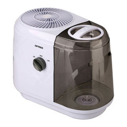 Optimus - Humidifier 2.0-Gallon Cool Mist Evaporative - Clear the air with this cool-mist humidifier. It's a great choice for a medium-size room, creating a fine mist that won't leave your floors wet, then drawing it back in to rid the air of impurities.