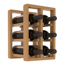 Wine Racks America® - 6 Bottle Counter Top/Pantry Wine Rack in Pine, Oak Stain + Satin Finish - These counter top wine racks are ideal for any pantry or kitchen setting.  These wine racks are also great for maximizing odd-sized/unused storage space.  They are available in furniture grade Ponderosa Pine, or Premium Redwood along with optional 6 stains and satin finish.  With 1-10 columns available, these racks will accommodate most any space!!