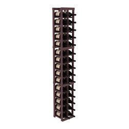 Wine Racks America - 2 Column Magnum/Champagne Cellar Kit in Pine, Burgundy + Satin Finish - If you're going to live large, you're going to accumulate some pretty big bottles. Fortunately, this magnum wine is brilliantly designed for flexibility and durability, so pop the cork and order another case!
