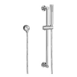 """Jado - Jado 847099.100 Polished Chrome Stoic Stoic Single Function Hand - Jado Factory Blowout Sale - Lowest Prices Available on Industry Leading ProductsProduct Features:Hand shower is fully covered under Jado s limited lifetime warrantySuperior finishing process - finish is covered under lifetime warrantyHand showers by Jado are designed to function flawlessly and last a lifetimeHand Shower Package Includes: hand shower, hose, slide bar, wall supply and holding bracketDesigned to easily install with 1/2"""" wall supply elbows or shower arm divertersAll hardware required for installation comes standard for hand shower and included componentsProduct Technologies and Benefits:Industry Leading Warranty: As part of the American Standard family, Jado has made a point of being an industry leader when it comes to product quality and design. Using only the highest quality materials and engineering products with longevity in mind, Jado has stayed at the top of the plumbing industry for over 15 years. It is with this confidence that Jado offers a lifetime warranty along with all of their faucets, thusly passing that assurance and peace of mind on to you, the customer.Product Specifications:Single spray function - featuring a full-body spray patternFlow Rate: 2.5 gallons-per-minuteHand Shower Height: 8""""Integrated dual check-valves60"""" metal hose included1/2"""" female connections on both ends of shower hoseSlide Bar Length: 24"""" (adjustable)Includes sliding parking bracket for hand shower (angle adjustable)About Jado: As part of the American Standard family Jado follows the same vision of premium quality products with leading innovations. Their European engineers take painstaking care to ensure every faucet they produce is perfectly engineered and exquisit"""