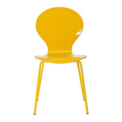 Modway Furniture - Modway Insect Dining Side Chair in Yellow - Dining Side Chair in Yellow belongs to Insect Collection by Modway For true flights of fancy, no house is complete without an Insect Chair. Good for dinning room or living room, this creatively styled piece is sure to draw attention and admiration. Set Includes: One - Insect Chair in Glossy Side Chair (1)