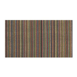 """Chilewich® Bright Multi 20""""x36"""" Doormat - Unusually weighty, in a good way,  I think this doormat may outlast my backdoor.   The colors in the image don't do it justice,  it really is a bright multi, eye catching piece.  Hmmnn.... Wondering if I could mount in on the wall as art too?"""