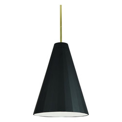 Robert Abbey - Robert Abbey-768-Jonathan Adler Antwerp - One Light Pendant - Susp. Hardware: 3 pcs. 5/8 X 12 & 1 pc. 5/8 X 6 Extension Rods.