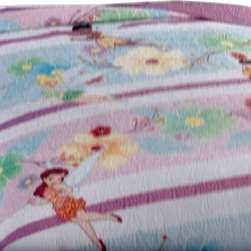 Pem America - Disney Fairies Twin Quilt Only - Bring the magic of Disney's Fairies right into your room with these detailed applique and embroidered quilts.