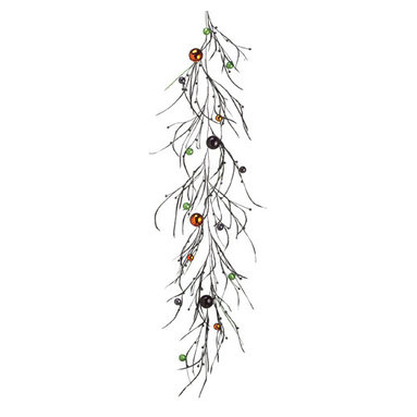 Silk Plants Direct - Silk Plants Direct Feather and Ornament Ball Garland (Pack of 6) - Silk Plants Direct specializes in manufacturing, design and supply of the most life-like, premium quality artificial plants, trees, flowers, arrangements, topiaries and containers for home, office and commercial use. Our Feather and Ornament Ball Garland includes the following: