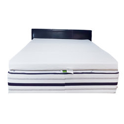 """Great Deal Furniture - Silica Gel 2"""" Memory Foam Mattress Topper, Queen - Maximize your sleeping experience with the Silica gel memory foam mattress topper. The memory foam cradles the back and body to relieve pressure points to prevent tossing and turning for optimal sleep comfort. The 2-inch thick silica-infused memory foam mattress meets the highest standards of other top name brands. Simply top your existing mattress with this pad and you can have all the comfort without sacrificing cost."""