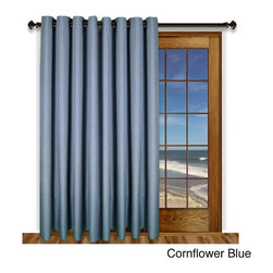 Ricardo - Glasgow Grommet 84inch Extra Wide Curtain Panel - grommet header,100% polyester,creates privacy,washable