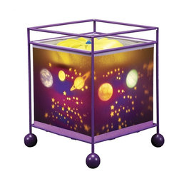 Natural Design House - MeMe Magic Lamp Galaxy Design - Children are fascinated by these lamps! Wonderful magic lamp, rotates gently when switched on using the heat from the bulb and projects a soothing image onto the ceiling and walls.