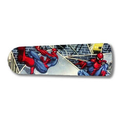 """Spiderman Superhero 52"""" Ceiling Fan BLADES ONLY - These are beautiful custom blades for your home. This is a set of 5 brand new high quality designer ceiling fan blades. The surface is easy to clean with a damp cloth. These are universal for 52"""" fans. Double the measurement from the center of the fan to the tip of one blade. Several different mediums are used, all are non-toxic. You can be confident that this product will last for years to come. You'll love showing off your new unique blades. These are not licensed products, but are made with licensed materials."""
