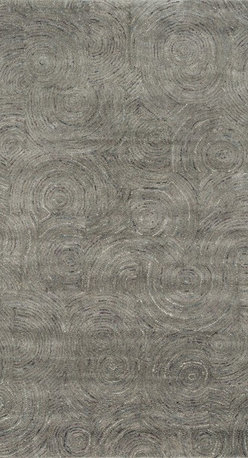 """Loloi Rugs - Loloi Rugs Diada Collection- Smoke, 9'-3"""" x 13' - The Diada Collection showcases six overall geometric patterns that tango between transitional and contemporary styling. Hand-tufted of 100% wool with loop accents, these textured designs come in mocha, gray, seaweed, smoke, camel, and ivory."""