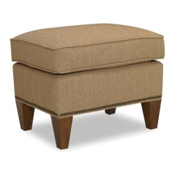 Sam Moore Harvard Ottoman - Sand - The Sam Moore Harvard Ottoman - Sand is a tailored-looking multi-tasker. This ottoman has a handsomely textured sand upholstery, crisp welt trim, and tapered wood legs accented by nailhead trim. All this and it works as a comfy footstool or extra seat, too.About Sam MooreSince 1940, Sam Moore's hand-crafted upholstered furniture has offered extraordinary quality, comfort, and style. This Bedford, Virginia-based company proudly crafts its products right here in the USA. From classic to transitional to contemporary styles, Sam Moore takes time with every detail, making sure each piece is something you'll appreciate in your home.