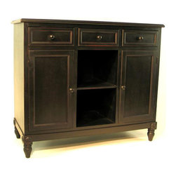 Wayborn - Brookfield Sideboard, Black - Brookfield Sideboard,Blk.