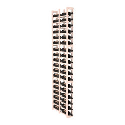 """Wine Racks America - 1 Column Double Deep Cellar Kit in Pine, White Wash + Satin Finish - Wine storage capacity to the next level. Fit 3 cases of wine on less than 5"""" of wall space! This narrow wine rack is perfect for creating maximum storage capacity from every little nook and cranny without requiring more wall space. This rack is built to last. Guaranteed."""