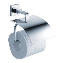 Fresca - Glorioso Toilet Paper Holder in Triple Chrome Finish - Made with heavy duty brass. Triple chrome finish. 1-Year warranty on parts. 5.5 in. W x 3 in. D x 6 in. HAll of our Fresca bathroom accessories are made with brass with a triple chrome finish and have been chosen to compliment our other line of products including our vanities, faucets, shower panels and toilets. They are imported and selected for their modern, cutting edge designs.