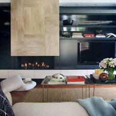 Contemporary Home Theater by Darren Palmer Interiors