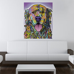 My Wonderful Walls - Silence is Golden - Dog Wall Sticker - Decal, Small - - Silence is Golden Retriever Dog graphic by Dean Russo