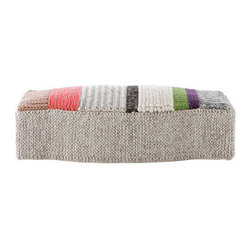 Gandia Blasco Mangas Puf Campana MP3 Modern Ottoman - This long pouf is large enough for you to lay down on — almost like taking a rest on a gigantic cable knit sweater. Sounds just perfect for cold weather days, if you ask me.