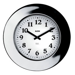 "Alessi - Alessi ""Momento"" Clock - Put a little shine that shows a lot of time on your wall with this classic clock. The mirror reflection adds to familiar, yet distinct design--a perfect accessory to your kitchen."