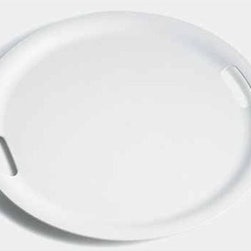 "Alessi - Jasper Morrison 18.9""  Op Round Tray - Perfect for every host, the Op Round Tray is ideal for a classy party. In a nice white hue, this tray is perfect for just about anything. Features: -Round tray. -Color: White. -Designed with perfect weight and balance. Specifications: -Dimensions: 1.2"" H x 18.9"" W x 18.9"" D . -Material: ABS. -Dishwasher safe."