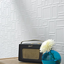 Graham & Brown - Large Squares Wallpaper - Squares is a fun and funky interpretation of fashion design for paintable wallpaper. This paintable wallpaper allows you to create your own unique style. For a clean look, leave it white or add your own personal touch with color!