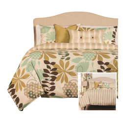 SIS Covers - SIS Covers English Garden Duvet Set - 6 Piece Full Duvet Set - 5 Piece Twin Duvet Set Duvet 67x88, 1 Std Sham 26x20, 1 16x16 dec pillow, 1 26x14 dec pillow. 6 Piece Full Duvet Set Duvet 86x88, 2 Std Shams 26x20, 1 16x16 dec pillow, 1 26x14 dec pillow. 6 Piece Queen Duvet Set Duvet 94x98, 2 Qn Shams 30x20, 1 16x16 dec pillow, 1 26x14 dec pillow. 6 Piece California King Duvet Set Duvet 104x100, 2 Kg Shams 36x20, 1 16x16 dec pillow, 1 26x14 dec pillow6 Piece King Duvet Set Duvet 104x98, 2 Kg Shams 36x20, 1 16x16 dec pillow, 1 26x14 dec pillow. Fabric Content 1 100 Polyester, Fabric Content 2 100 Polyester, Fabric Content 3 100 Polyester. Guarantee Workmanship and materials for the life of the product. SIScovers cannot be responsible for normal fabric wear, sun damage, or damage caused by misuse. Care instructions Machine Wash. Features Reversible Duvet and Shams.