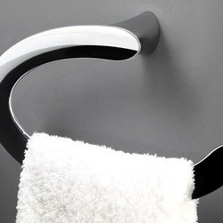 WS Bath Collections - 10 in. Towel Ring - Contemporary style. Designer high end quality. Premium quality. Avantgarde. Warranty: One year. Made from solid brass base. Polished chrome color. Made in Spain. No assembly required. 10 in. W x 6.3 in. D x 3 in. H (3 lbs.)Belle the very well known brand name for premium and highend bathroom furnishings. Unique and fine bath complements, and accessories of various designs and materials.