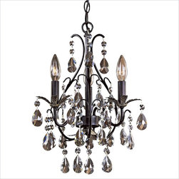 Minka Lighting Lavery 3 Light Mini Chandelier - This is great for a bedroom because it's a small chandelier.