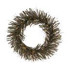 """Vickerman - Vienna Twig Wreath 35CL 360T (30"""") - 30"""" Vienna Twig Wreath  35 Clear Mini Lights, 360 PVC Tips"""