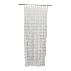 Couture Dreams - Couture Dreams Chichi Ivory Petal Shower Curtain - Couture Dreams Chichi Shower Curtains are sophisticated and romantic yet playful and casual. Truly stunning, these shower curtains are sure to turn any bathroom into a beautiful room. Each petal is individually hand sewn onto the curtain creating a beautiful array of cascading petals. Sure to brighten the dullest bathroom.