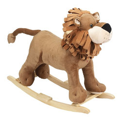 Charm Co. - Linus Lion Rocker - This lion rocker is anything but ferocious with his cute button eyes and his folded fabric mane. Let this King of the Jungle become King of your child's bedroom.