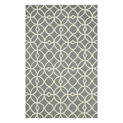 nuLOOM - Contemporary 5' x 8' Grey Hand Hooked Area Rug Trellis BC58 - Made from the finest materials in the world and with the uttermost care, our rugs are a great addition to your home.