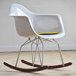Diamond Rocker Chair by Kubikoff - What a fortunate child, the one whose nursery contains a Diamond rocking chair. Parents will love the modern style and the comfort for rocking baby to sleep.