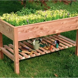 Tierra-Derco - Tierra Derco 4429 Raised Planter Box Multicolor - 4429 - Shop for Planters and Pottery from Hayneedle.com! Cultivate natural beauty with a garden that springs to life within the Tierra Derco 4429 Raised Planter Box. This well crafted planter is made of weather-resistant cedar and provides plenty of room for a variety of flowers starters veggies and more. A lower shelf is perfect for pots and gardening tools. About Prairie LeisureLocated in Pierz Minn. Prairie Leisure Design manufactures casual outdoor furniture. Their products have a traditional design and are made in the USA from Red Cedar or Aspen a North American hardwood. They offer a wide variety of products designed for every age group: elderly adults juniors and kids. Ideal for relaxing and socializing in the great outdoors Prairie Leisure Design furniture adds comfort and style to any backyard or patio.About Tierra-Derco InternationalTierra-Derco International is a wholesale importer of distinctive high-quality hard goods for the garden. Tierra International merged with Derco Horticulture's US operations to form Tierra-Derco International LLC (TDI) in 2006. They had both been founded in 1998 with the same goal of supplying an exclusive selection of garden tools decorative accessories and hard goods. Derco is especially known in the U.S. for its quality line of garden center shopping carts and plastic trunk liners. Tierra brands include DeWit Peacock Gaspo Euroclogs and Eurogarden Kids. Tierra-Derco's central U.S. headquarters is located in Jasper Ind.