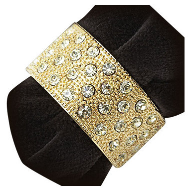 "L'Objet - L'Objet Napkin Jewels Pave Band Gold and Yellow Crystals - L'Objet is best known for using ancient design techniques to create timeless, yet decidedly modern serveware, dishes, home decor and gifts. 24K Gold-Plating and Yellow Crystals. Measurements: 3"" x 2.5"". Set of 4. Luxuriously Gift Boxed. Combining classical elegance with charming whimsy, L'Objet Napkin Jewels accessorize the dining experience. Meticulously handcrafted, plated with 24K gold or platinum."