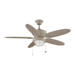 "Fanimation - Fanimation Kaya 52"" 5 Blade Outdoor Ceiling Fan - Blades & Light Kit Included - Included Components:"