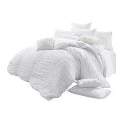 Melange Home - Belle Cotton Duvet Cover Set, Full/Queen - Description: