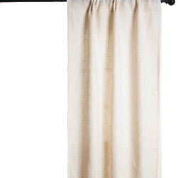 Saro - Burlap Lined Curtain, Ivory - •100% Jute Available in Ivory or Natural