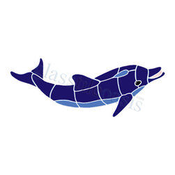 Ocean Pool Mosaic - Baby Dolphin Pool Accents Blue Pool Glossy Ceramic - We offer six lines of in-stock designs ready for immediate delivery including: The Aquatic Line, The Shadow Line, The Hang 10 Line, The Medallion Line, The Garden Line and The Peanuts Line. All of the mosaics are frost proof, maintenance free and guaranteed for life. Our Aquatic Line includes: mosaic dolphins, mosaic turtles, mosaic tropical and sport fish, mosaic crabs and lobsters, mosaic mermaids, and other mosaic sea creatures such as starfish, octopus, sandollars, sailfish, marlin and sharks. For added three dimensional realism, the Shadow Line must be seen to be believed. Our Garden Line features mosaic geckos, mosaic hibiscus, mosaic palm tree, mosaic sun, mosaic parrot and many more. Put Snoopy and the gang in your pool or bathroom with the Peanuts Line. Hang Ten line is a beach and surfing themed line featuring mosaic flip flops, mosaic bikini, mosaic board shorts, mosaic footprints and much more. Select the centerpiece of your new pool from the Medallion Line featuring classic design elements such as Greek key and wave elements in elegant medallion mosaic designs.