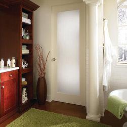 Modern Privacy Glass Interior Door -