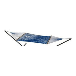 Phat Tommy - Handwoven Hammock in Bold Blue - Includes two chains and two tree 0.38 in. steel hooks