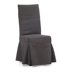 Zuo Modern - Zuo Modern 98079 Dog Patch Chair Charcoal Gray - Sold in Sets of 2 - Simple and relaxed in design, the Dog Patch chair is a perennial dining room favorite. The slipcover has 4 ties in the back for added flare. The frame is solid wood, molded foam seats, and a beige or charcoal linen fabric cover.