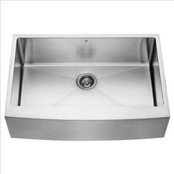 Vigo - VIGO VGR3320C Farmhouse Kitchen Sink - Fully undercoated and padded with unique multi layer sound eliminating technology, which also prevents condensation