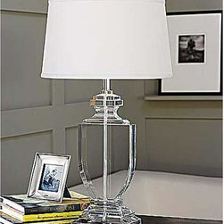 Regina Andrew - Regina Andrew Crystal Flat Urn Table Lamp - Crystal flat urn table lamp.