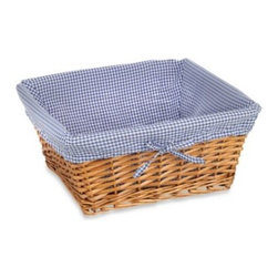 Redmon - Redmon Collection Large Willow Basket Gingham Liner in Navy - A great way to personalize your Redmon Collection Large Willow Basket is with this Gingham Liner. 100% polyester.