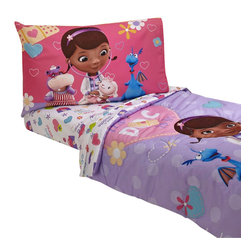 Crown Crafts Infant Products - Doc McStuffins Toddler Bedding Doctor is In Comforter Sheets - Features:
