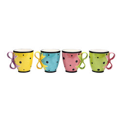 """ATD - 4 Inch Multi Colored """"Daily Dots"""" Tea Cups by Babs, Set of 4 - This gorgeous 4 Inch Multi Colored """"Daily Dots"""" Tea Cups by Babs, Set of 4 has the finest details and highest quality you will find anywhere! 4 Inch Multi Colored """"Daily Dots"""" Tea Cups by Babs, Set of 4 is truly remarkable."""