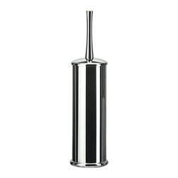 WS Bath Collections - Koko Chrome Free Standing Toilet Brush Holder - Koko 5050 by Modo Bath 3.6 Dia. x 14.6 Toilet Brush Holder, Galvanized Chromed Abs, Transparent Polycarbonate, Inside Container in Polypropylene, Free Standing, Made of Galvanized Chromed Abs, Transparent Polycarbonate, Made in Italy